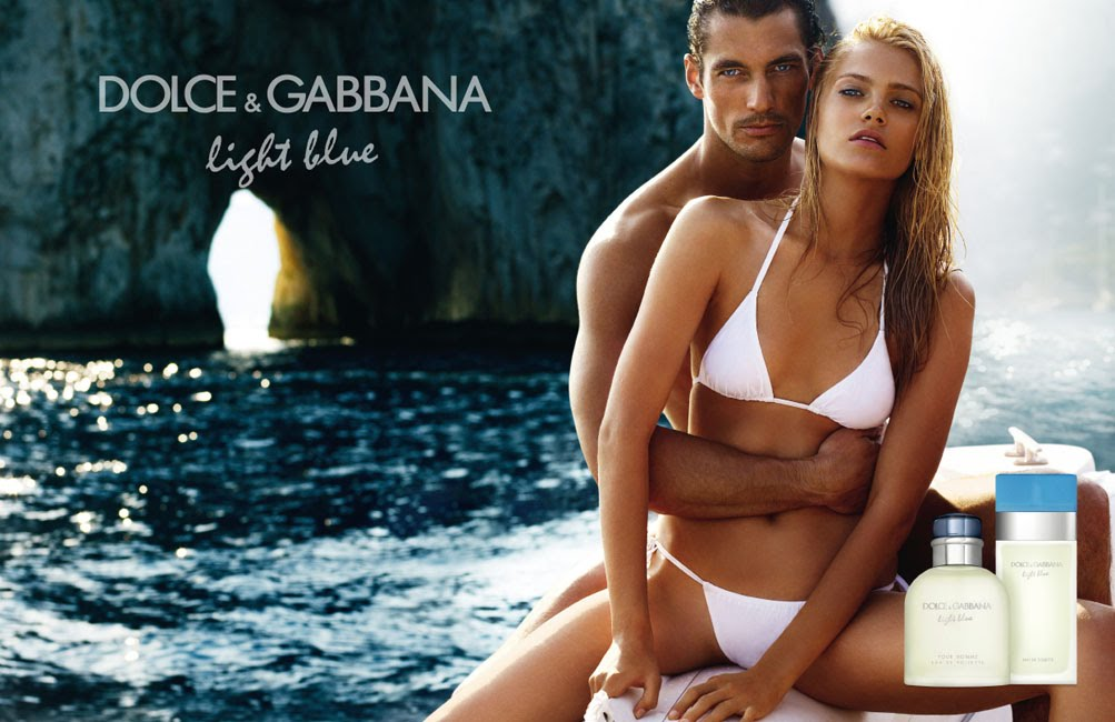 David Gandy Anna Maria Jagodzinska by Mario Testino Dolce Gabbana Light Blue Fragrance