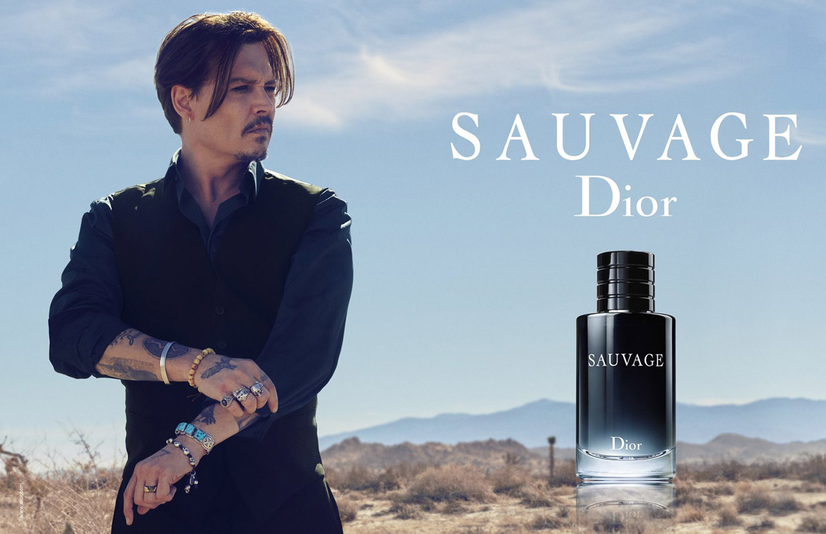 Johnny Depp Dior Sauvage Fragrance